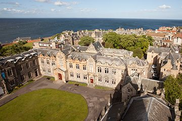 Aerial view of St Salvator's Quad