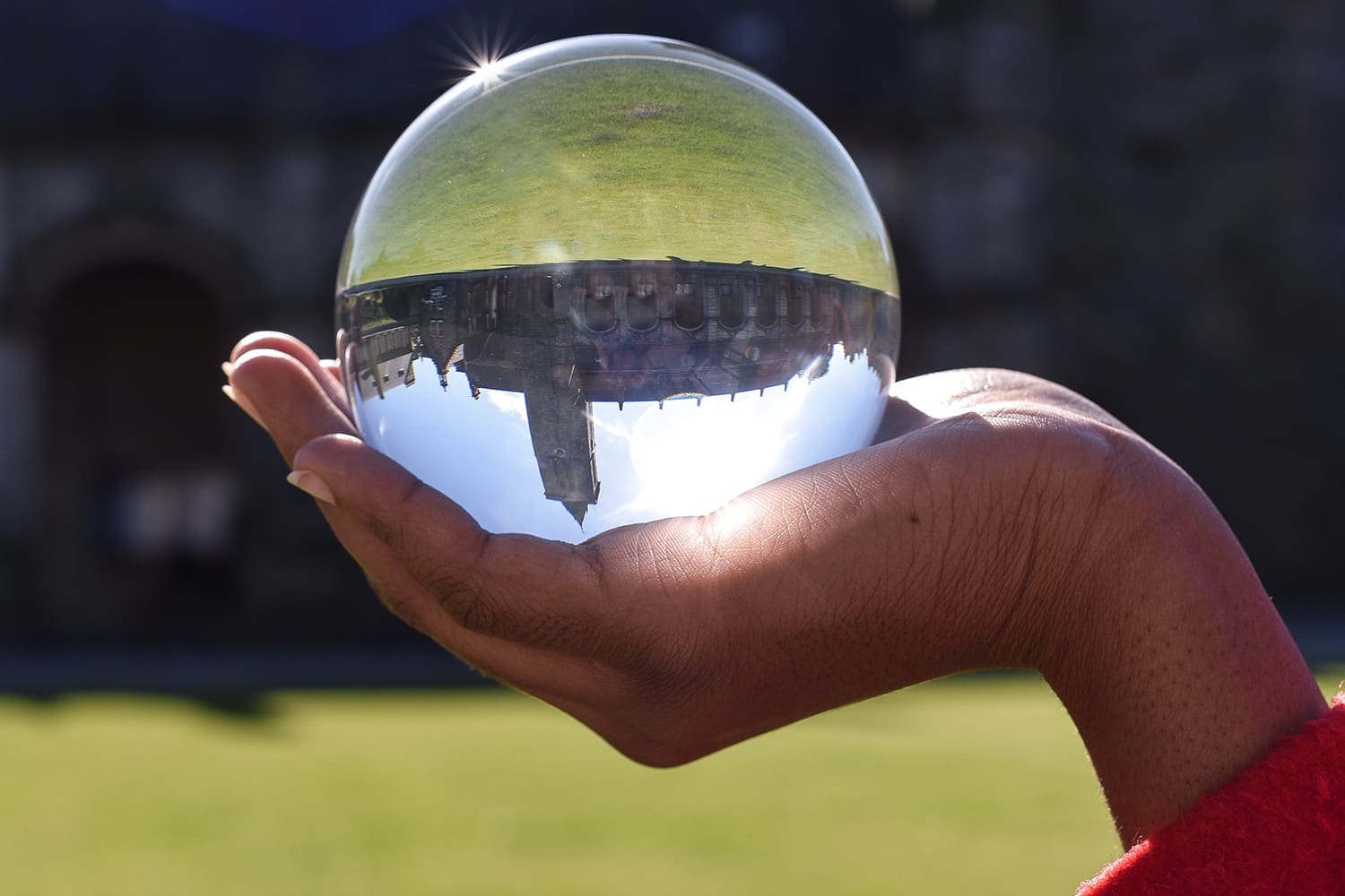 Glass ball photograph of St Andrews