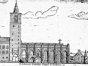 Architecture of St Salvator's Chapel illustration
