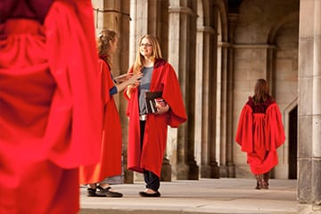 Students in red robes