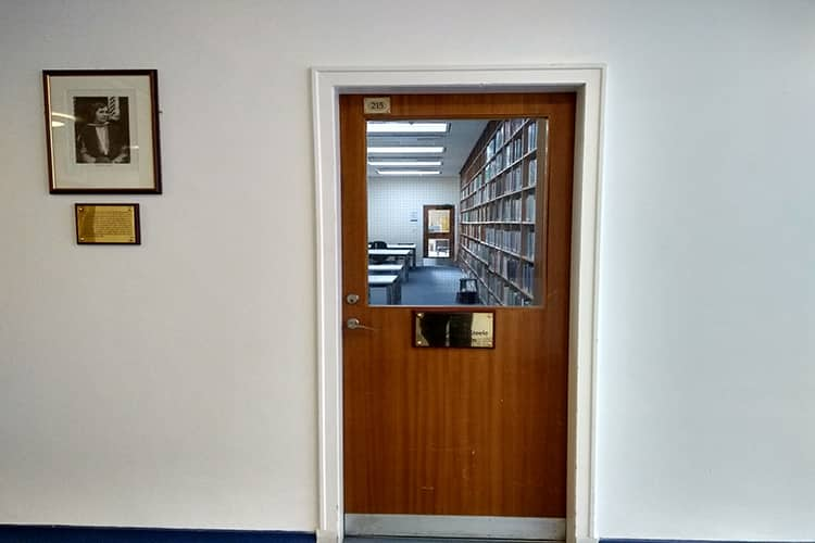 Entrance to Ettie Stewart Steele Reading Room
