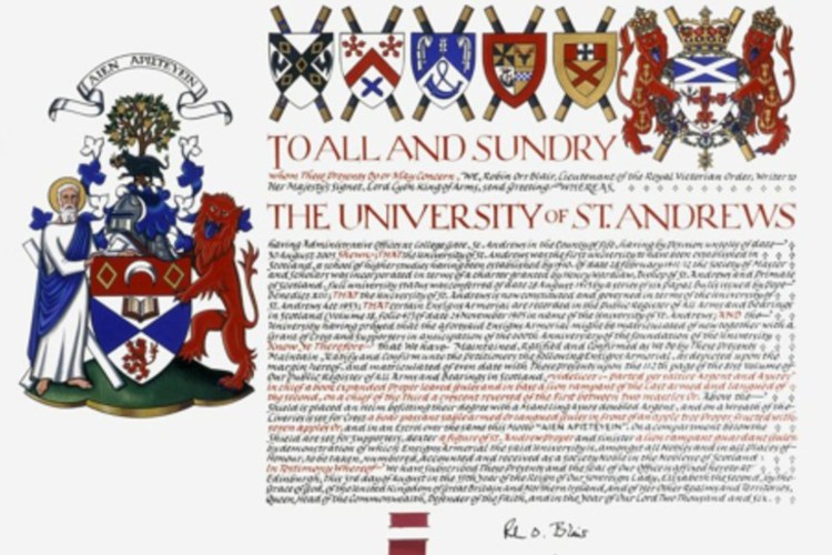 image depicts university charter