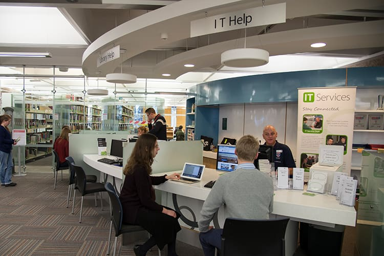 IT help desk in the main library