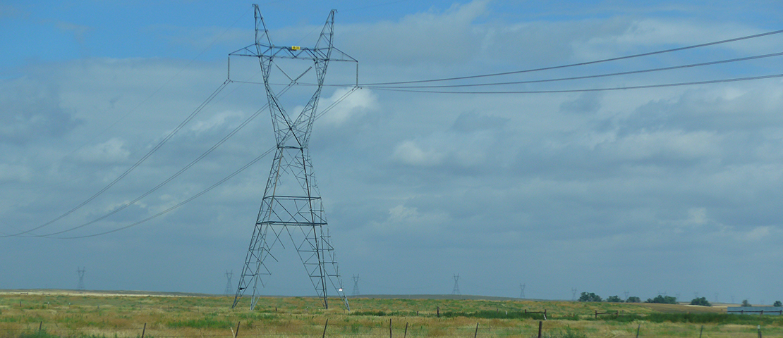 Picture of electricity pylon
