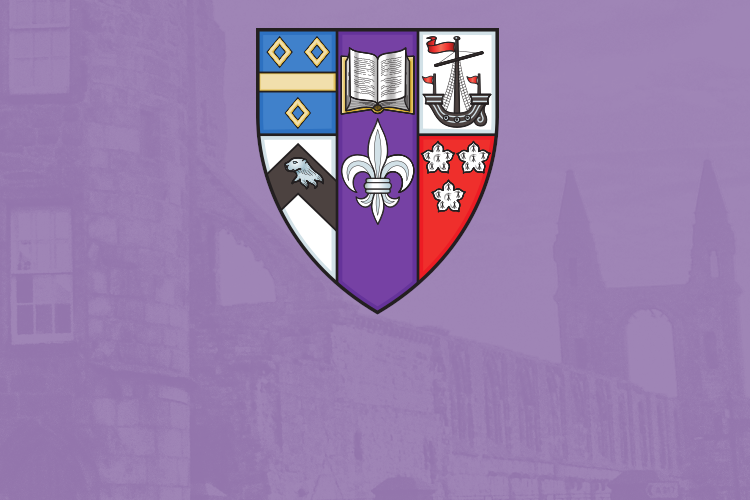 St Mary's coat of arms raised against purple background