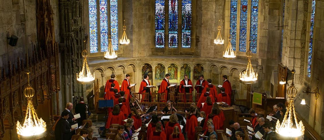 St Salvators Chapel Choir in the hall