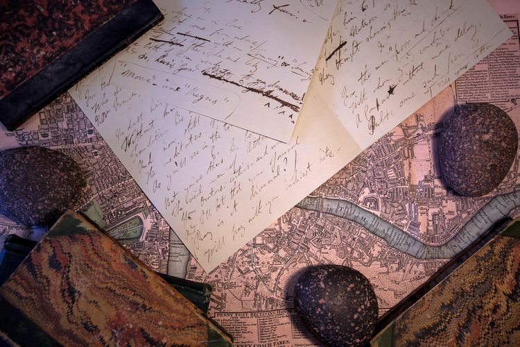 Close up of handwritten letters