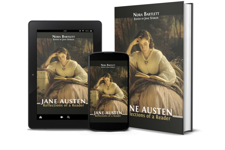 Jane Austin Reflections of a Reader book cover shown on multiple devices