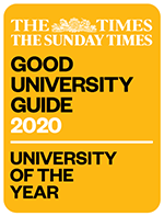 The Times and Sunday Times Good University Guide 2020 badge for University of the Year
