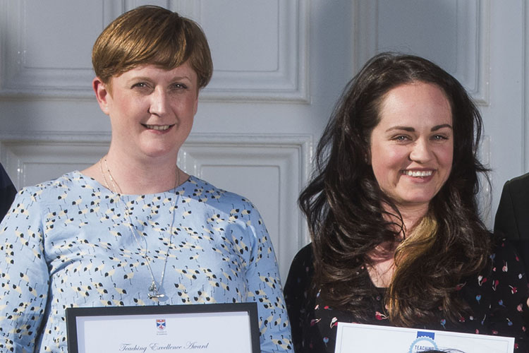 Drs Anna Brown and Lori Leigh Davis, winners at the Teaching Excellence Awards 2019