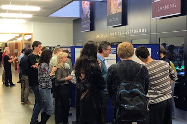 Poster session in the School of Physics and Astronomy.