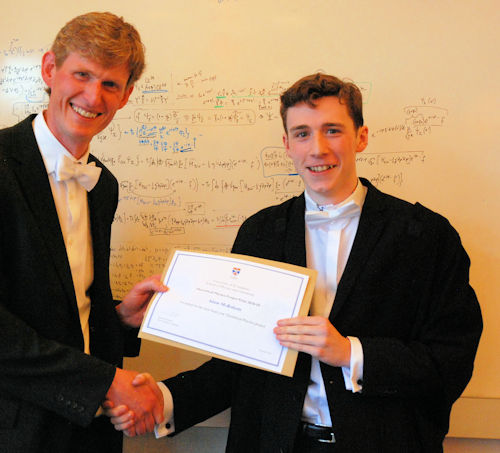 Winner of the MPhys Theoretical Physics project prize.