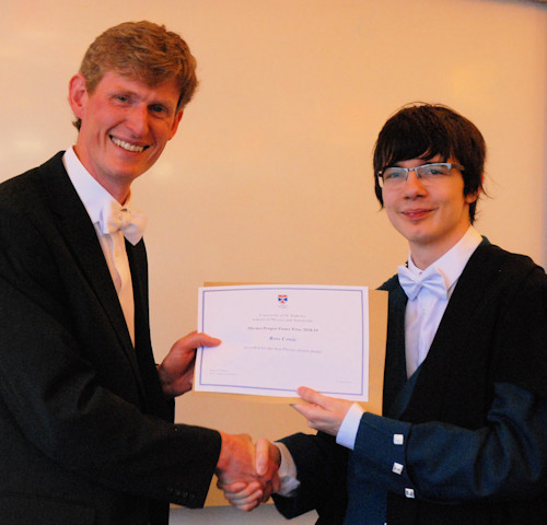 Winner of the poster for experimental physics.