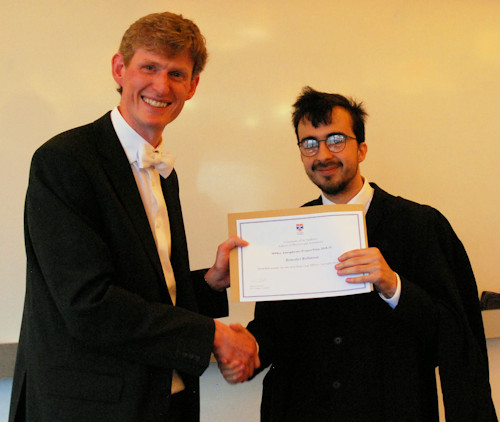 Joint winner of the Astrophysics MPhys project prize.