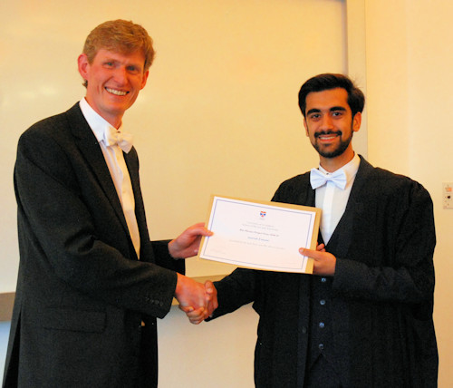 Winner of the BSc Physics project prize.