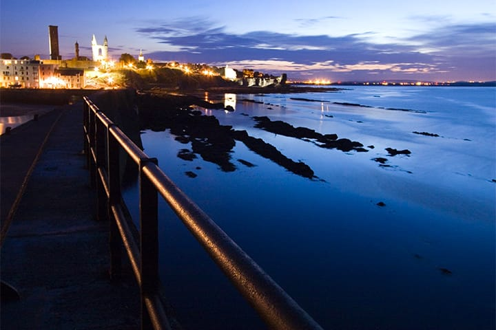 St Andrews pier at night