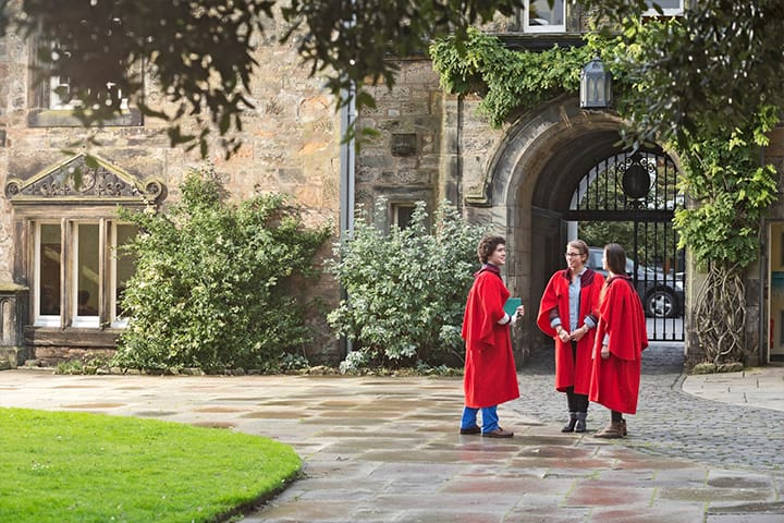 Students in St Mary's Quad