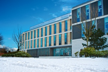 The School of Medicine in the snow