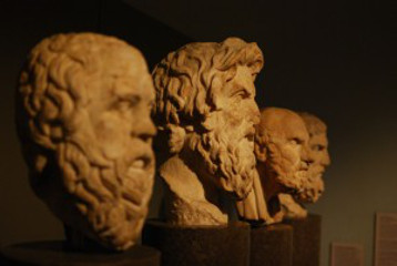 Greek philosophy busts