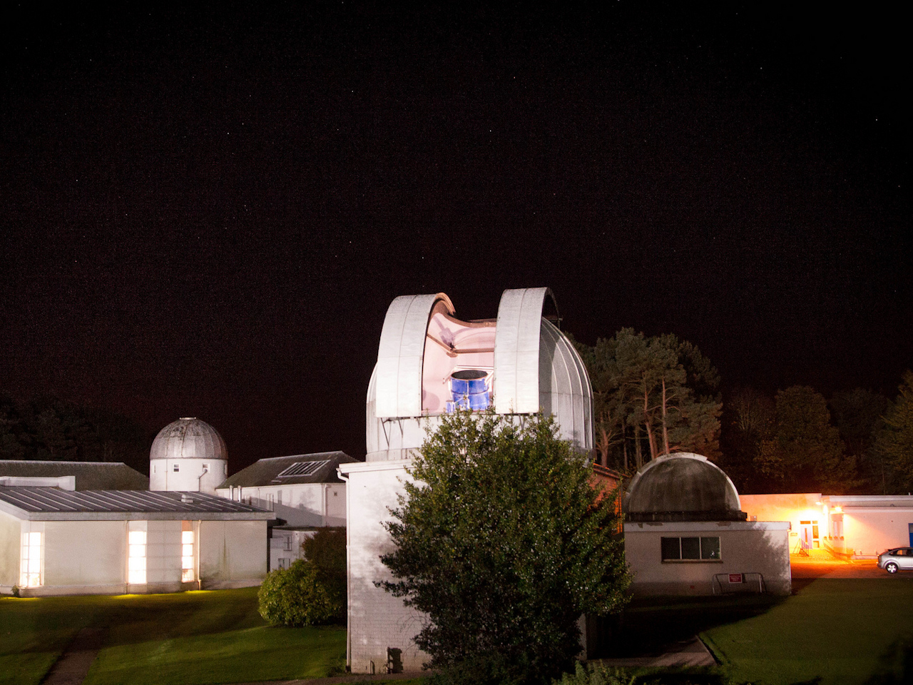 The Gregory telescope at the University Observatory: copyright Jan Boelsche