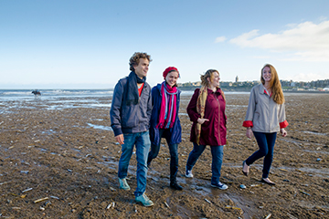 Postgraduate students on West Sands beach