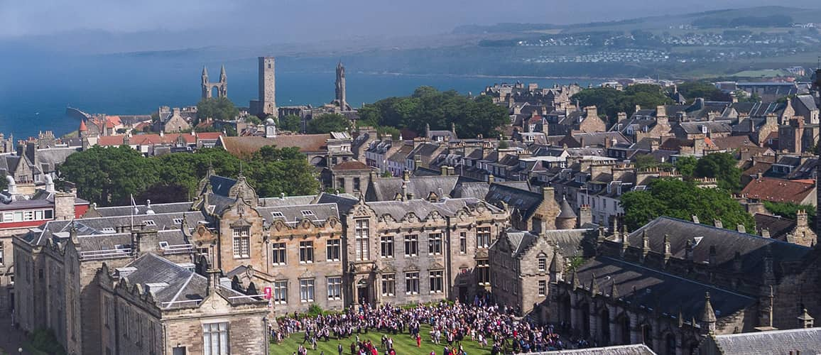 St Salvators Quad from above