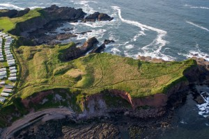Aerial view of Eyemouth Fort
