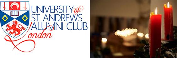 london alumni club logo and candles