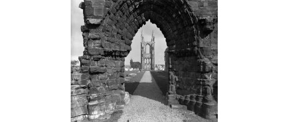 black and white picture of cathedral