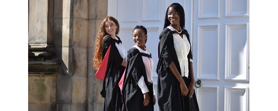 three new graduates