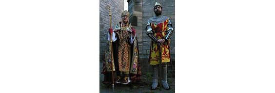 men in historical clothes