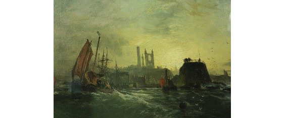 painting of stormy sea