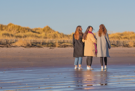 Students on west sands