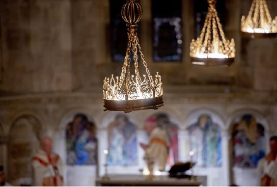 Inside St Salvator's chapel