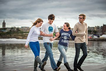 Students at the West Sands