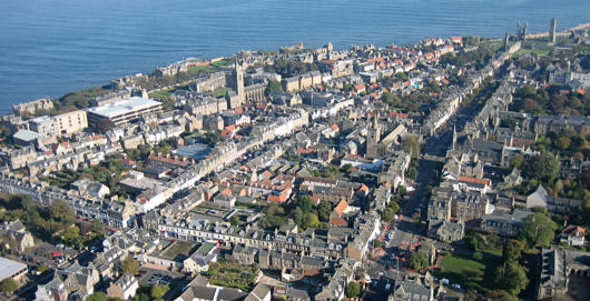 Aerial view of St Andrews