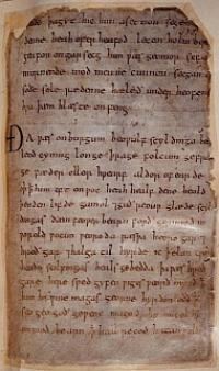 Beowulf manuscript from British Library