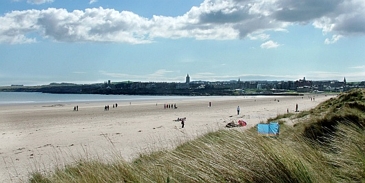 View of St Andrews from the beach