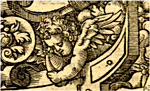 Cherub detail, image courtesy of University of St Andrews Special Collections