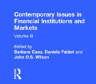 Contemporary Issues in Financial Institutions and Markets, Vol III - cover (crop)