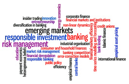 Financial Institutions and Markets research thematic group wordcloud
