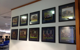 10th Anniversary Postgraduate (Masters) class photos display