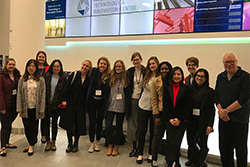 MLitt in HRM students attend CIPD Student Conference, February 2019, with tutor Martin Dowling and students from Abertay.