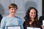 Teaching Excellence Awards 2019 winners Dr Anna Brown and Dr Lori Leigh Davis, both of the School of Management