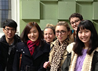 MLitt students on a field trip to Royal Scottish National Orchestra headquarters in Glasgow