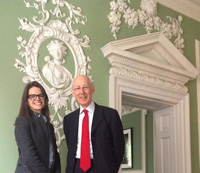 Sandra Schembri, CEO of House of St Barnabas, and Revd Dr Adam Scott, shown at the House