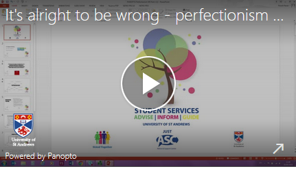 its alright to be wrong - perfectionism