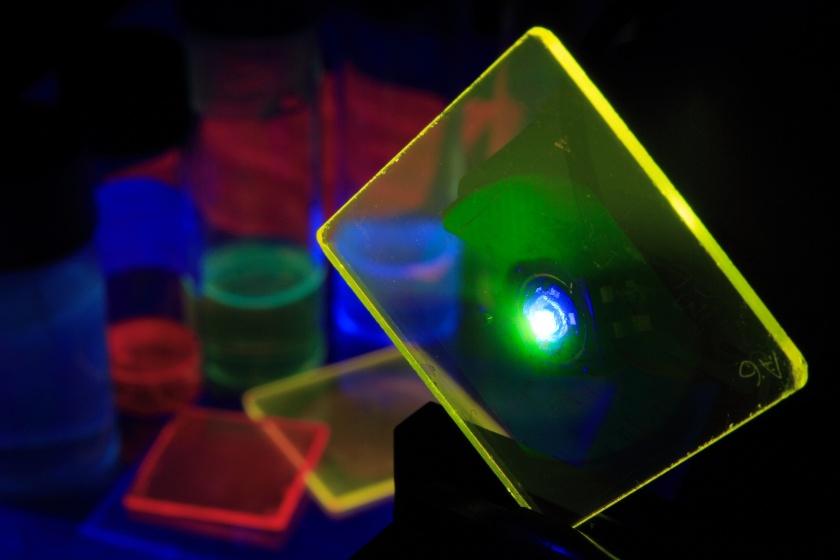 Organic Semiconductor Optoelectronics: LED pumped organic laser